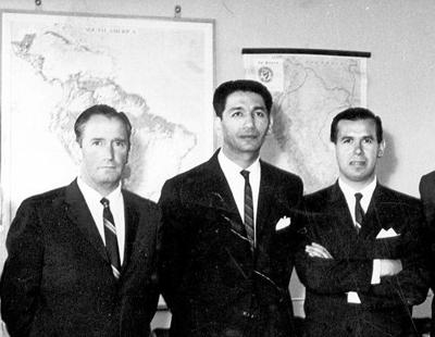 De izq. a der.: Jorge Rivera A., el VP Eric Campaña y Marcelo Cisternas
