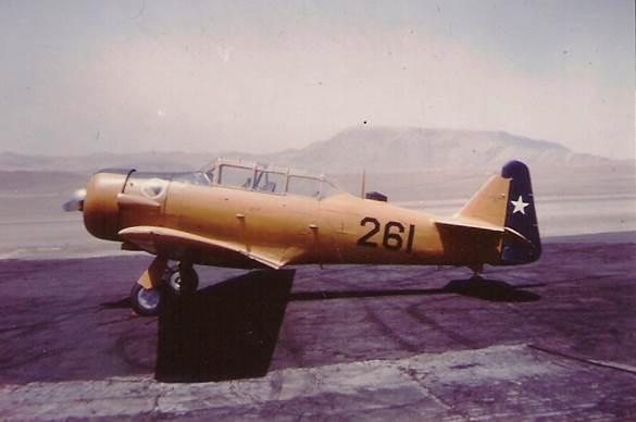 T-6G Nº 261 en el cual el 22 de febrero de 1963 Sergio hizo su primer solo en dicho material